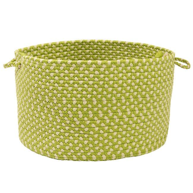 Color Market Lime Colored Basket