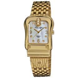 Akribos XXIV Women's Gold-Tone Quartz Buckle Bracelet Watch