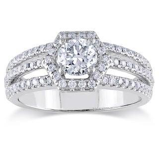 Miadora 14k White Gold 1ct TDW IGL-certified Diamond Ring (G-H, SI1-SI2)