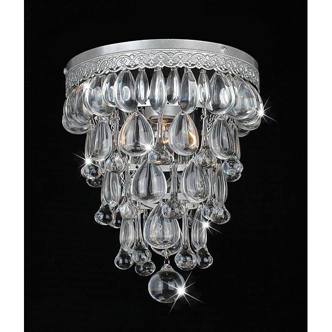 Cone Shape Matte Silver Flushmount Ceiling Chandelier