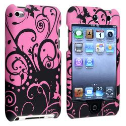 INSTEN Purple/ Black Rubber Coated iPod Case Cover for Apple iPod Touch Generation 4