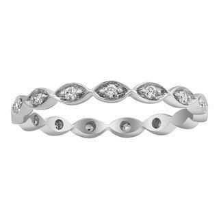Beverly Hills Charm 10k White Gold 1/5ct TDW Diamond Eternity Stackable Band Ring (H-I, I2-I3)