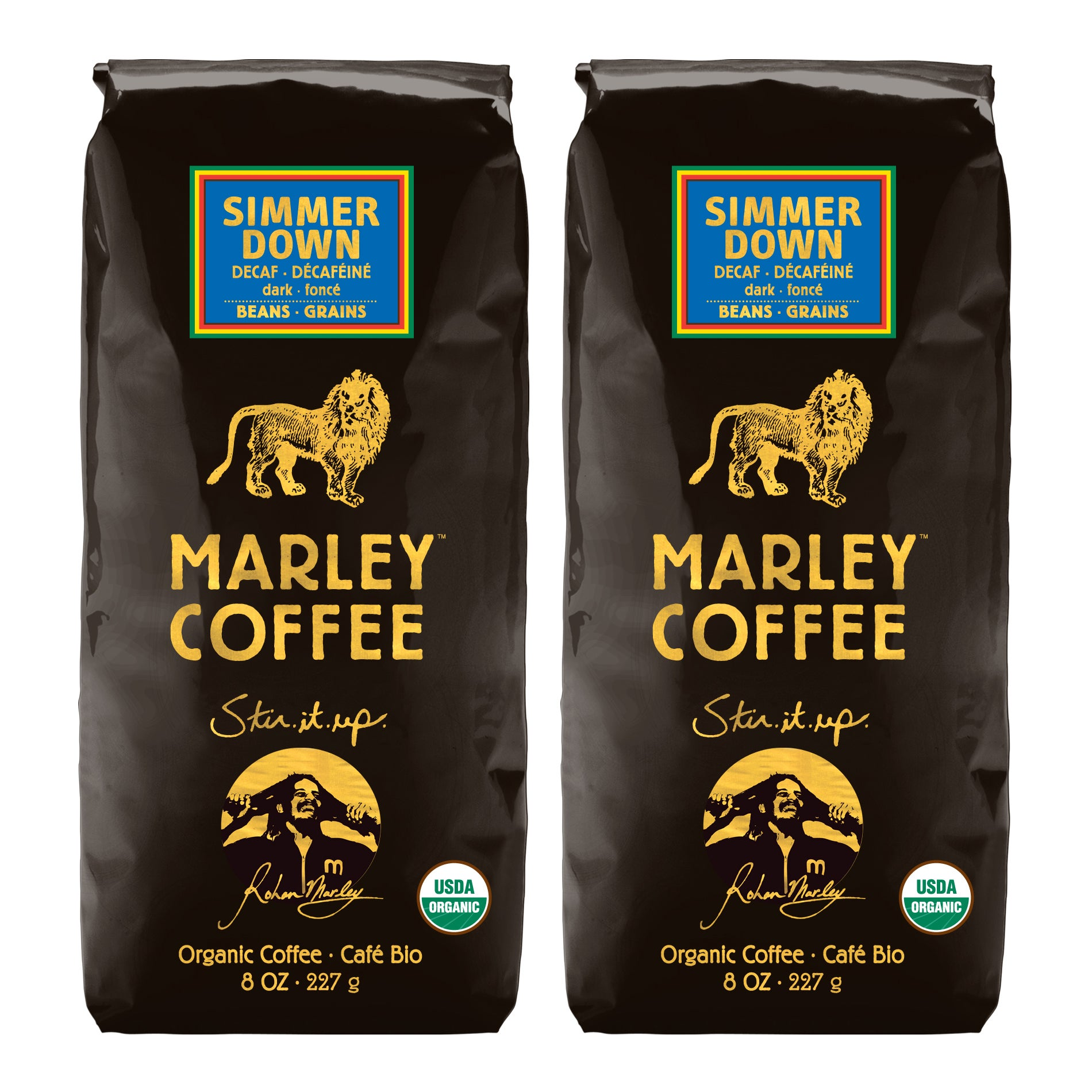 Marley Coffee Simmer Down Swiss Decaf Whole Bean Coffee (1 Pound)