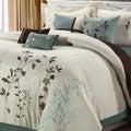 Bliss Garden 8-piece Beige Oversized Comforter Set