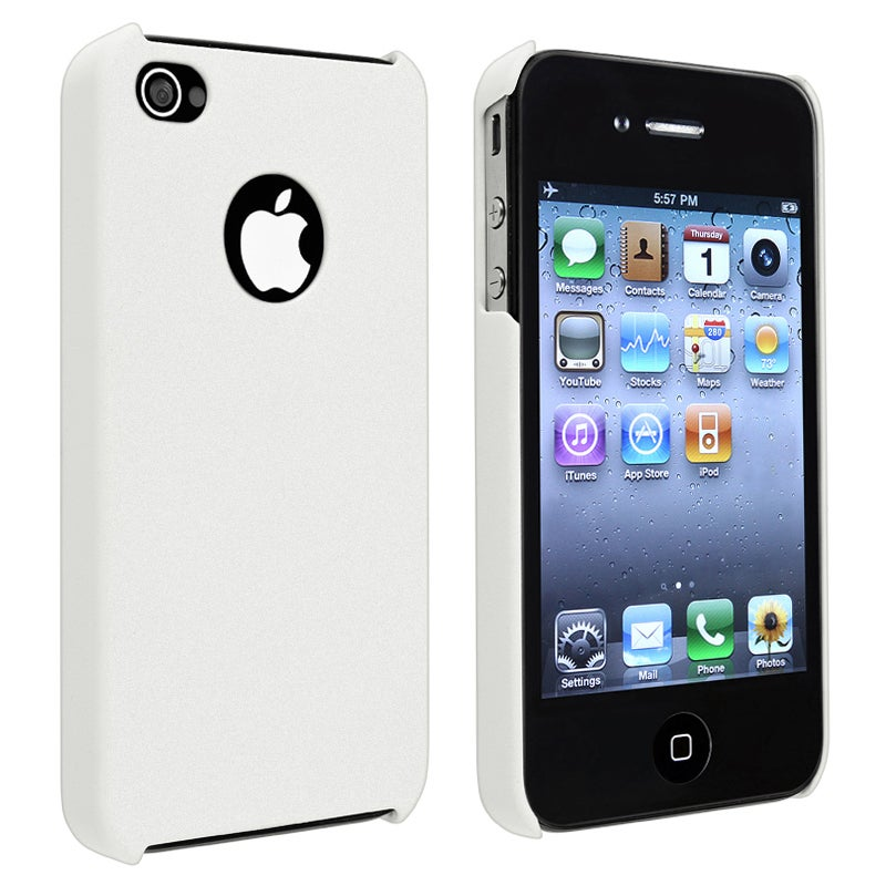 INSTEN White Matte Snap-on Phone Case Cover for Apple iPhone 4/ 4S