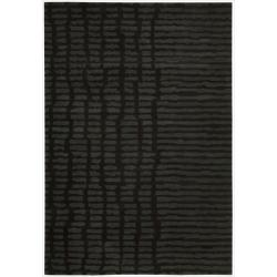 Nourison Home Hand-tufted Luster Wash Black Rug (4' x 6')