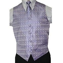 Ferrecci Men's Lilac Vest Tie 4-piece Accessory Set