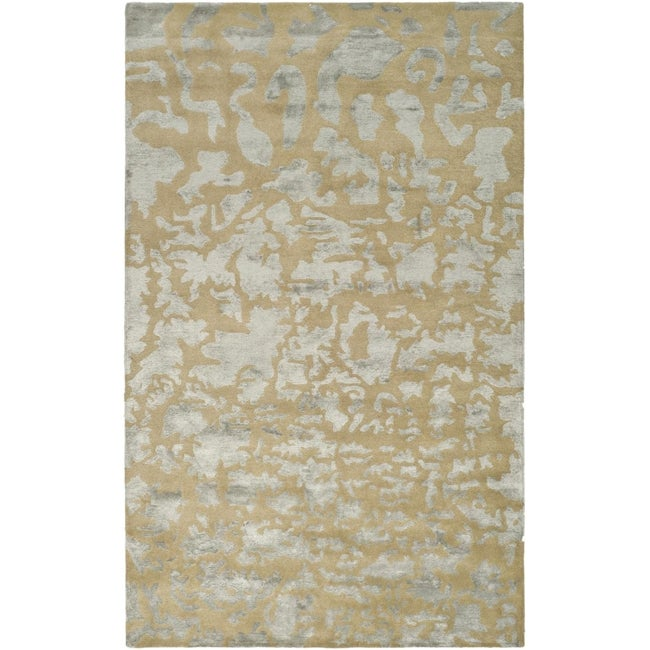 Safavieh Handmade Soho Taupe/ Light Grey New Zealand Wool Rug (8'3 x 11')