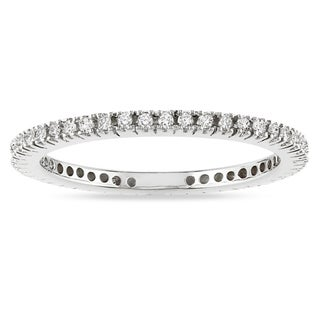 Miadora 10k White Gold 1/3ct TDW Diamond Stackable Eternity Ring (H-I, I2-I3)