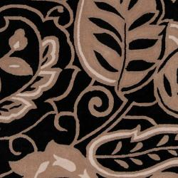 angelo:HOME Hand-tufted Black Hudson Park Polyester Rug (8' x 10')