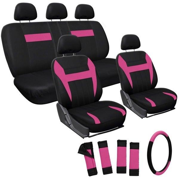 Oxgord Pink 17-piece Car Seat Cover Automotive Set