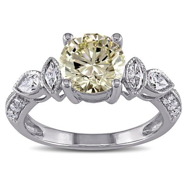Miadora 14k Gold 2 1/3ct TDW Certified Vintage Diamond Ring (H-I, I1-I2)