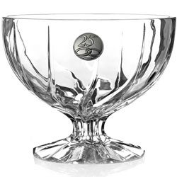 Crystal Pedestal Bowl from the 25th Ann.Trix Collection by RCR Italy