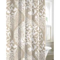 City Scene Medley Platinum 100-percent Cotton Shower Curtain