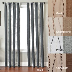 Vastitude Stripe Rod Pocket 84-inch Curtain Panel