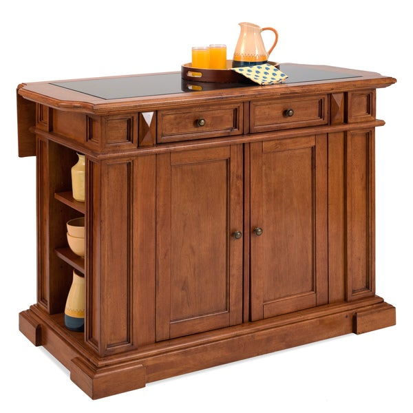Distressed Oak Finish Cottage Deluxe Island