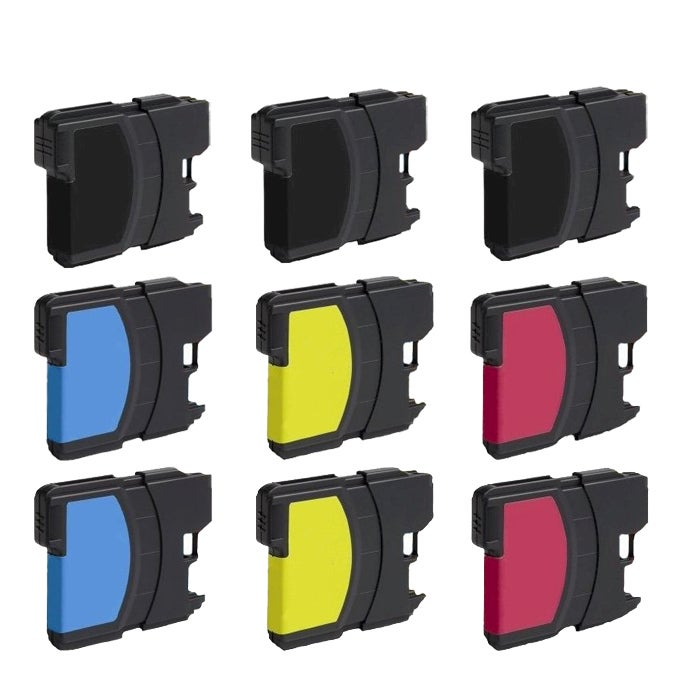 Brother LC61 Compatible Ink Cartridge (Pack of 9)