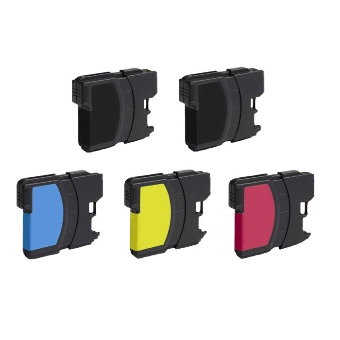 Brother LC61 Compatible Black/Color Ink Cartridge (Pack of 5)