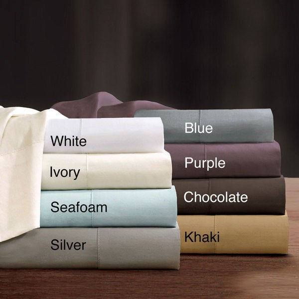 Sleep Philosophy and Liquid Pima Cotton 300 Thread Count Sheet Set with Optional Pillowcase Separates