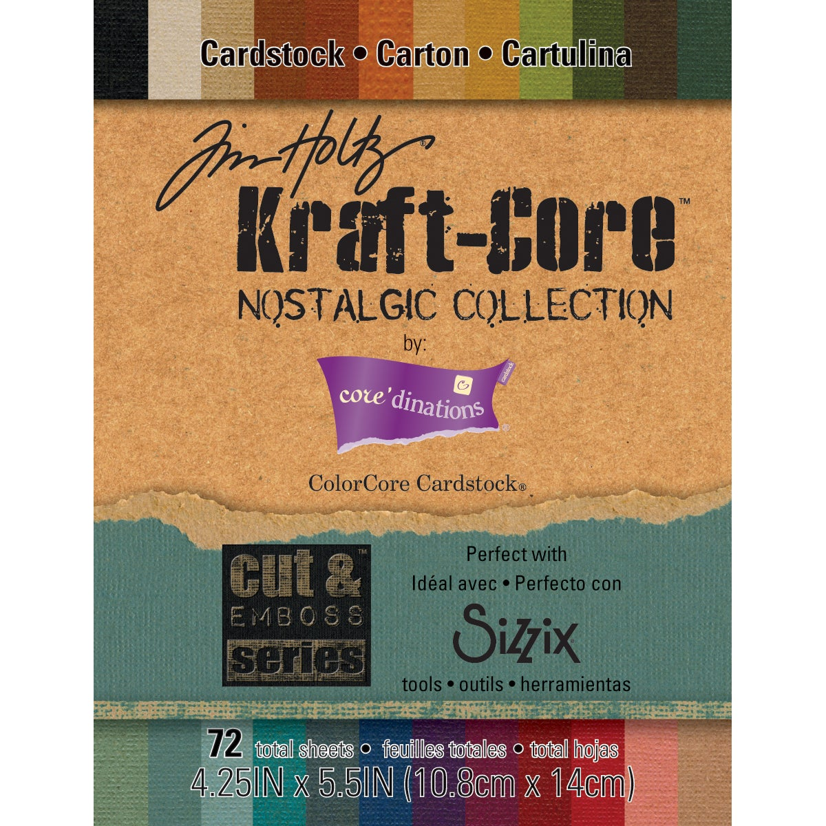 Darice 1920-25 by Tim Holtz Kraft Core Paper Pad (72 Sheets)