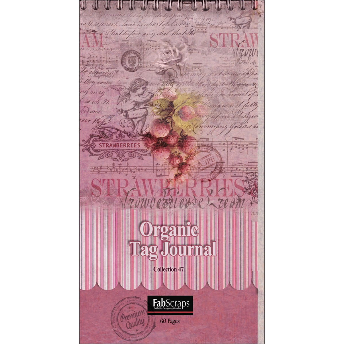 Organic Tag Journal Pad 'Strawberries' (60 Sheets)