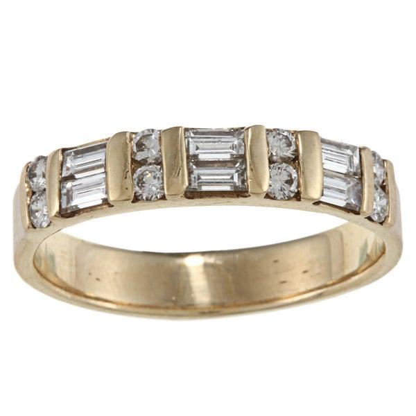14k Yellow Gold 1/2ct TDW Diamond Estate Ring (G-H, SI1-SI2)