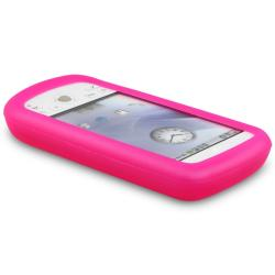 INSTEN Hot Pink Soft Silicone Skin Phone Case Cover for HTC Magic/ T-Mobile MyTouch 3G