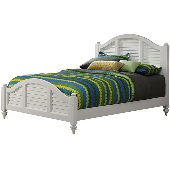 Bermuda Queen Bed Brushed White Finish