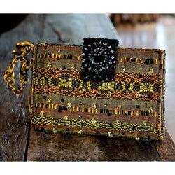 Rayon 'Atitlan Canary' Medium Beaded Shoulder Bag (Guatemala)