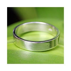 Men's Sterling Silver 'Trust the Moon' Ring (Thailand)