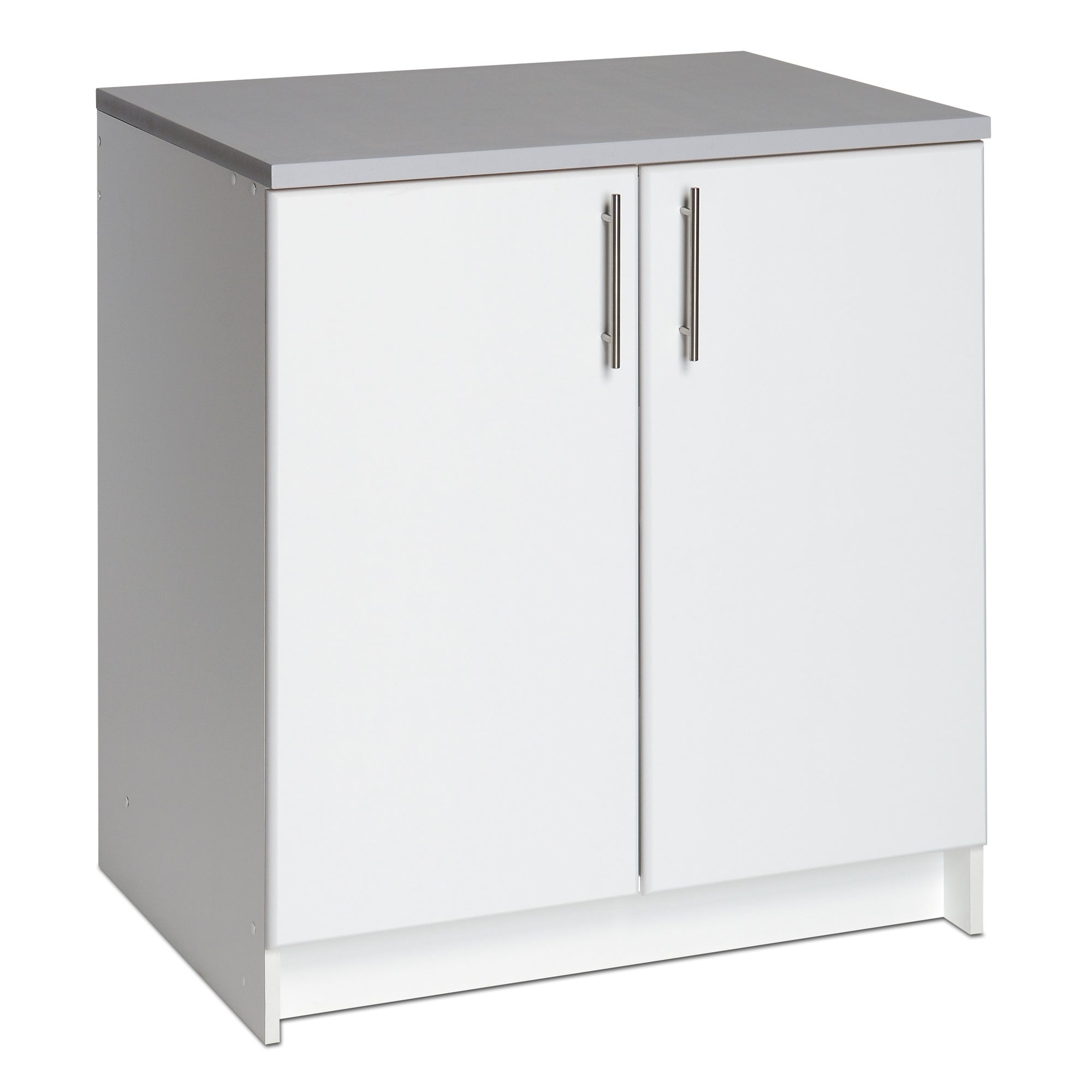 Winslow white 32 inch elite base cabinet with two doors for 10 inch kitchen cabinet