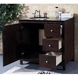 granite top 36 inch single sink bathroom vanity overstock shopping