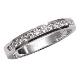 14k White Gold 1/4ct TDW Diamond Wedding Band (G, SI1)