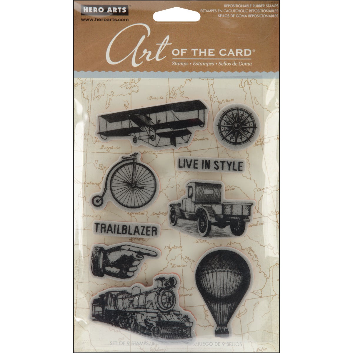 Hero Arts Cling Stamps-Past Times