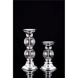 Lakeside Glass Globe/ Aluminum Holders (Set of 2)