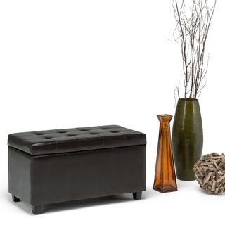Essex Medium Rectangular Faux Leather Storage Ottoman Bench