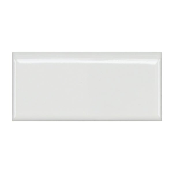 Somertile 1 75x3 75 Inch Victorian Glossy White Porcelain