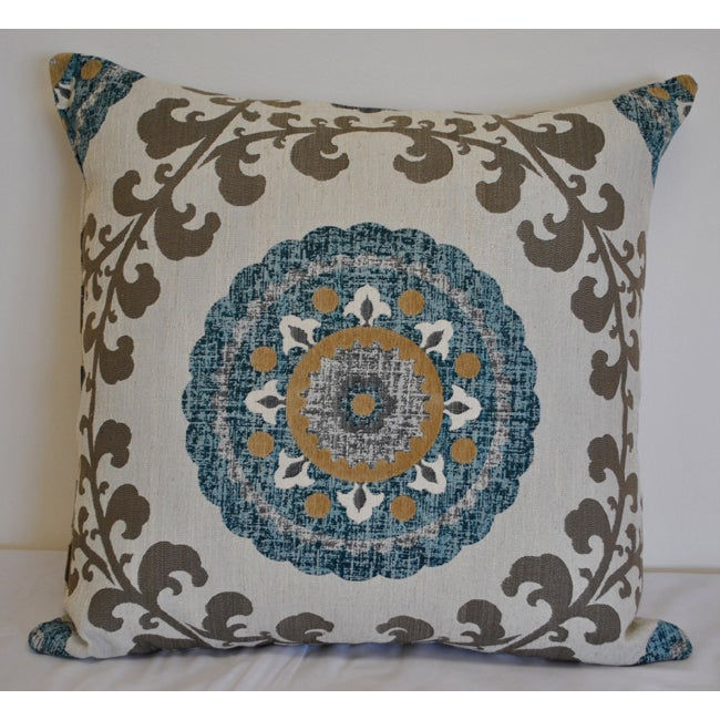Overstock Decorative Throw Pillows : Sherry Kline Quay Teal Blue 26-inch Pillow - Overstock Shopping - Great Deals on Sherry Kline ...