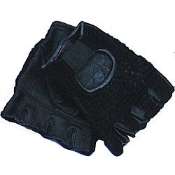 Defender Black XX-Large Leather Fingerless Gloves