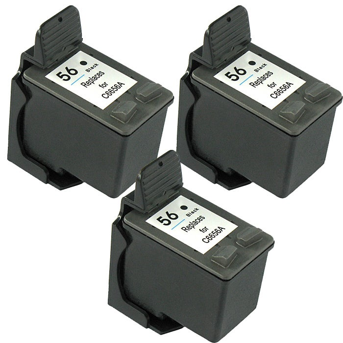 Hewlett Packard HP 56 Black Ink Cartridge (Pack of 3) (Remanufactured)