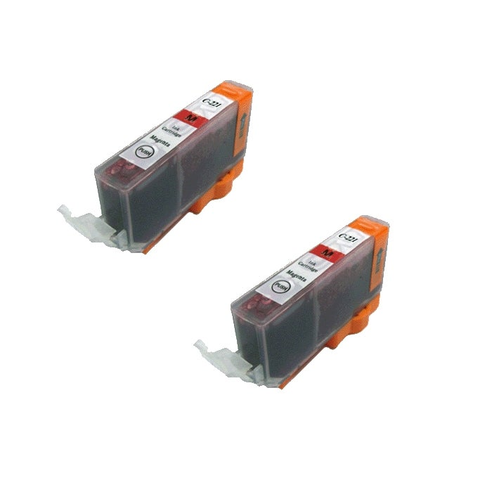 Canon CLI 221 Compatible Magenta Ink Cartridge (Pack of 2)
