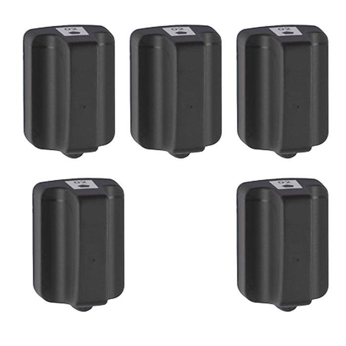 Hewlett Packard 02 Black Ink Cartridge (Pack of 5) (Remanufactured)