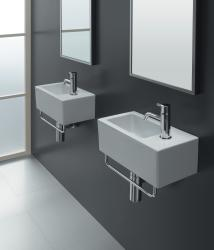 Bissonnet 'ICE-20' White Ceramic Bathroom Sink