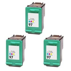 Hewlett Packard HP97 Color Ink Cartridge (Pack of 3) (Remanufactured)