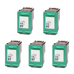 Hewlett Packard HP 97 Color Ink Cartridge (Pack of 5) (Remanufactured)