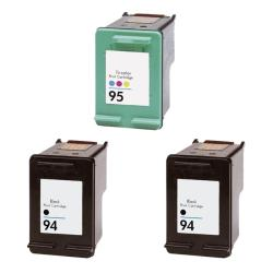 Hewlett Packard HP 94/95 Black/ Color Ink Cartridge (Pack of 3) (Remanufactured)