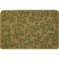 Somette Printed Sisal Green Mat (2' x 3')