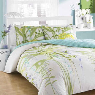 City Scene Mixed Floral 3-piece Comforter Set