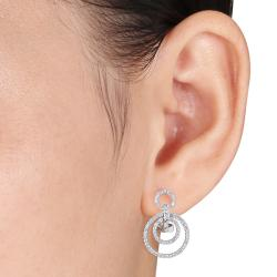 Miadora 14k White Gold 4/5ct TDW Diamond Earrings (G-H, SI1-SI2)