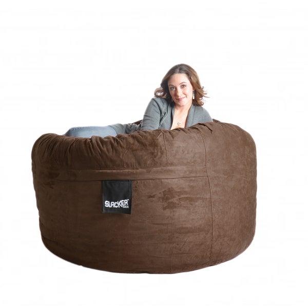 Chocolate Brown Microfiber and Memory Foam 5-foot Bean Bag